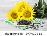 sunflower seeds | Shutterstock . vector #697417318