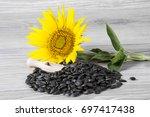 sunflower seeds | Shutterstock . vector #697417438