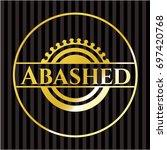 abashed gold emblem or badge   Shutterstock .eps vector #697420768