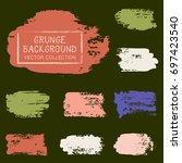 grunge brush stroke background... | Shutterstock .eps vector #697423540