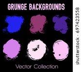 grunge brush stroke background... | Shutterstock .eps vector #697423558