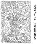 vector hand drawn fantasy old... | Shutterstock .eps vector #697425328