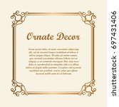 vector decorative element for... | Shutterstock .eps vector #697431406