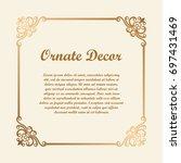 vector decorative element for... | Shutterstock .eps vector #697431469