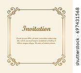 vector decorative element for... | Shutterstock .eps vector #697431568