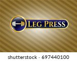 gold badge or emblem with...   Shutterstock .eps vector #697440100