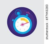 stopwatch icon   Shutterstock .eps vector #697443283