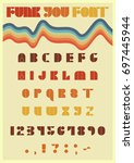 vector font from the seventies | Shutterstock .eps vector #697445944