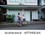 prachuap khiri khan  thailand   ... | Shutterstock . vector #697448164