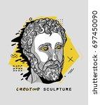 creative modern classical... | Shutterstock .eps vector #697450090