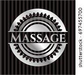 massage silver badge or emblem   Shutterstock .eps vector #697455700