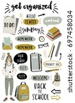 signs and symbols for organized ... | Shutterstock .eps vector #697458034