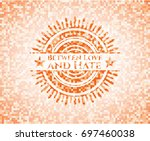 between love and hate abstract... | Shutterstock .eps vector #697460038