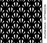 white triangles on black...   Shutterstock .eps vector #697460236