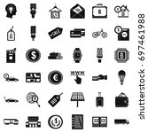 economy icons set. simple style ... | Shutterstock .eps vector #697461988