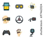 augmented reality icons set.... | Shutterstock .eps vector #697462024