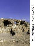 ancient roman building ruins in ... | Shutterstock . vector #697462078