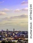 jaffa urban skyline rooftops at ... | Shutterstock . vector #697462144