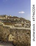ancient roman bathhouse... | Shutterstock . vector #697462204