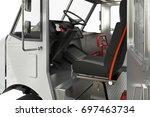 van car cabin open door  close... | Shutterstock . vector #697463734