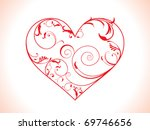 abstract floral heart vector...