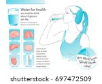 Woman Drinking Glass Of Water....