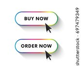 buy now button. order now... | Shutterstock .eps vector #697479349