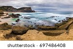 typical portugal   rough yet... | Shutterstock . vector #697486408