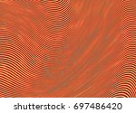vector warped lines colorful... | Shutterstock .eps vector #697486420