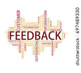 feedback tag cloud  vector | Shutterstock .eps vector #697489330