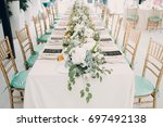 wedding decor | Shutterstock . vector #697492138