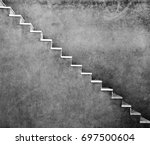 grey wall with stairs texture... | Shutterstock . vector #697500604
