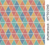 seamless pattern with hatched... | Shutterstock .eps vector #697501540