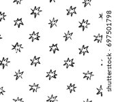 abstract pattern with stars... | Shutterstock .eps vector #697501798