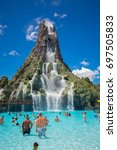 usa. florida. orlando. august ... | Shutterstock . vector #697505833