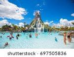 usa. florida. orlando. august ... | Shutterstock . vector #697505836