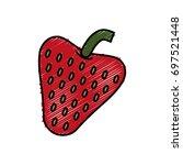 strawberry fruit icon   Shutterstock .eps vector #697521448
