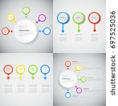 headline infographic set design ...   Shutterstock .eps vector #697525036