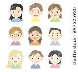 children in the world   vector... | Shutterstock .eps vector #697525930