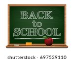 back to school background.... | Shutterstock .eps vector #697529110