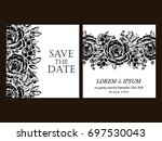 vintage delicate invitation... | Shutterstock .eps vector #697530043