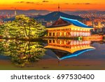 Reflection Gyeongbokgung Palace Landmarks Seoul - Fine Art prints
