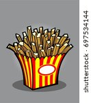 hand drawn or doodle fries... | Shutterstock .eps vector #697534144