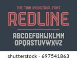 alphabet and font red line.... | Shutterstock . vector #697541863