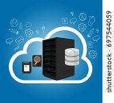 iaas infrastructure as a... | Shutterstock .eps vector #697544059