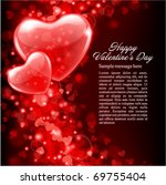 valentine's day vector... | Shutterstock .eps vector #69755404