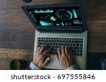 business concept. businessman... | Shutterstock . vector #697555846