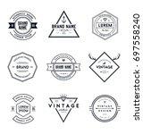 vintage retro brand badges... | Shutterstock .eps vector #697558240