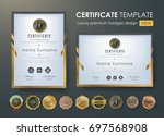 certificate template with... | Shutterstock .eps vector #697568908