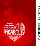 vector heart is made of words ... | Shutterstock .eps vector #69757411